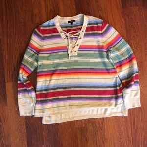 Chaps colourful striped sweater